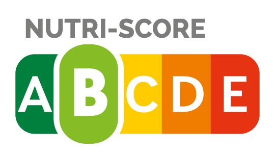 """Nutri-Score B - Die Ermittlung des Nutri-Score erfolgt auf Basis der Nährwertangaben für 100 Gramm, beziehungsweise 100 ml bei Getränken und Suppen. Zur Berechnung wird die Menge bestimmter ungünstiger und günstiger Inhaltsstoffe eines Lebensmittels ermittelt und miteinander verrechnet. Die Palette reicht von """"A"""" (grün) bis """"E"""" (rot). Je niedriger der Nutri-Score, desto höher ist die Nährwertqualität eines Lebensmittels."""