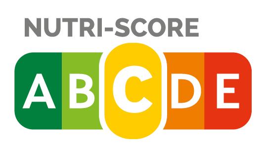 """Nutri-Score C - Die Ermittlung des Nutri-Score erfolgt auf Basis der Nährwertangaben für 100 Gramm, beziehungsweise 100 ml bei Getränken und Suppen. Zur Berechnung wird die Menge bestimmter ungünstiger und günstiger Inhaltsstoffe eines Lebensmittels ermittelt und miteinander verrechnet. Die Palette reicht von """"A"""" (grün) bis """"E"""" (rot). Je niedriger der Nutri-Score, desto höher ist die Nährwertqualität eines Lebensmittels."""