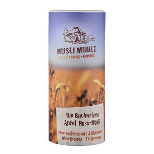 Buchweizen Apfel-Nuss Bio Müsli ohne Zucker 450gr Dose