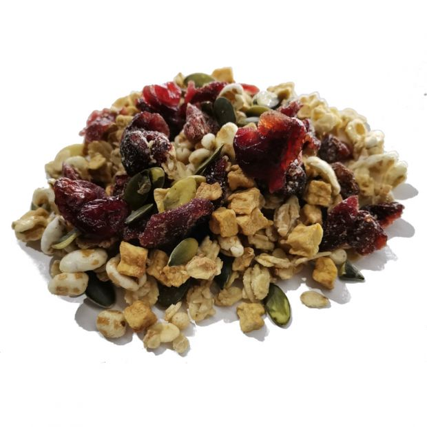 Bio Crunchy Dinkel mit Cranberries & Kürbiskernen